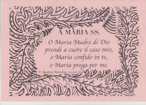 A Maria SS.